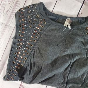 Free People Studded Muscle top